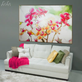 Декоративное панно «Цветы тропического леса» в интерьере