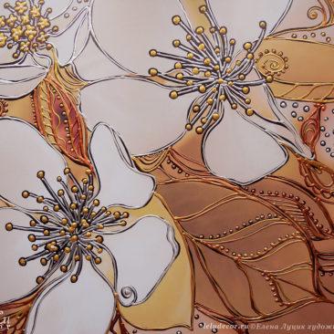 цветы яблони, графика