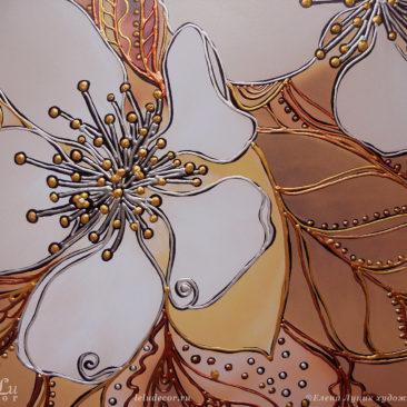 цветы яблони, декоративная графика