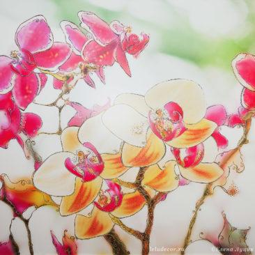 декоративное панно с орхидеями