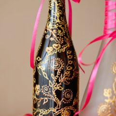 бутылка с декоративной росписью
