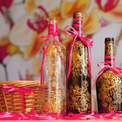 декоративная роспись бутылок