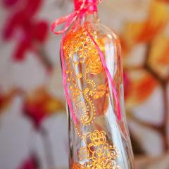 роспись по стеклу и декор бутылки
