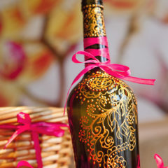 роспись и декор бутылки