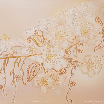 картина в светлых тонах с цветами