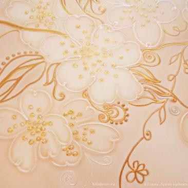 фрагмент картины с цветами