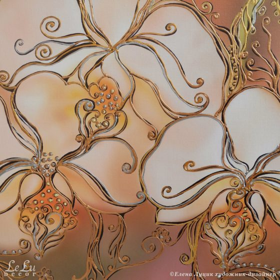 декоративная картина с орхидеями