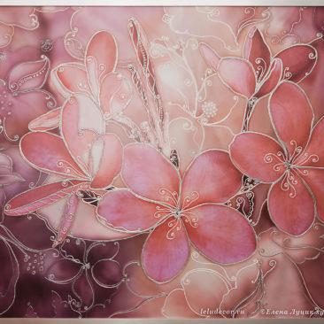 декоративное панно с цветами