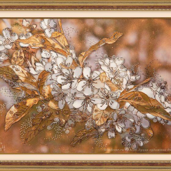 декоративная картина, цветы вишни