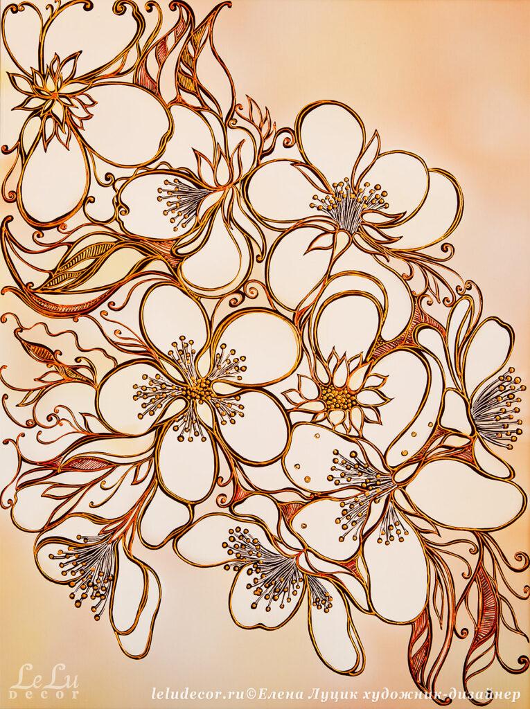 Декоративная картина композиции «Цветочное вдохновение»