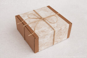 Коробка подарочная для декоративной композиции из природных материалов