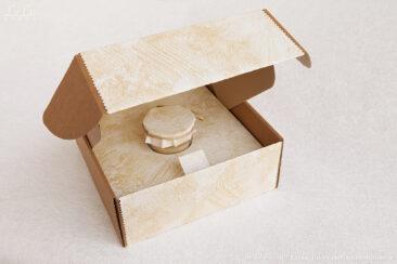 подсвечник из сосновых шишек в упаковке