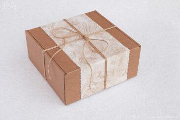 Коробка подарочная для декоративной композиции: подсвечника из сосновых шишек «Лесная полянка».