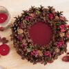 Декоративная композиция: подсвечник из сосновых шишек «Лесная полянка».